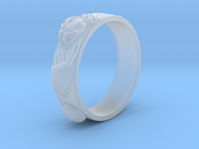 Sea Shell Ring 1 - US-Size 7 1/2 (17.75 mm) in Smoothest Fine Detail Plastic