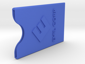 EVIL-CORP creditcard case in Blue Strong & Flexible Polished