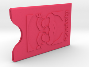 Fsociety Card Case in Pink Processed Versatile Plastic