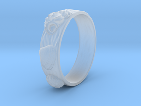 Sea Shell Ring 1 - US-Size 12 1/2 (21.89 mm) in Smooth Fine Detail Plastic