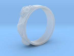 Sea Shell Ring 1 - US-Size 10 (19.84 mm) in Smooth Fine Detail Plastic