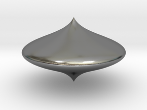 Bell shape scopperil in Polished Silver