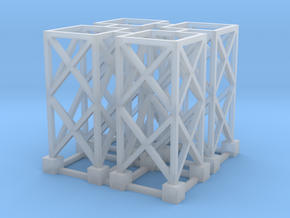 N Pipe Rack Corner Support 28mm 4pc in Smooth Fine Detail Plastic