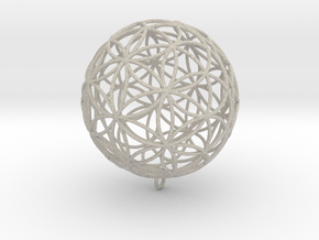 Pendant 200mm Flower Of Life  in Sandstone