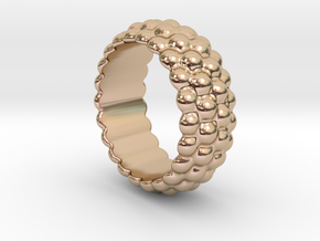 Big Bubble Ring 32 - Italian Size 32 in 14k Rose Gold Plated