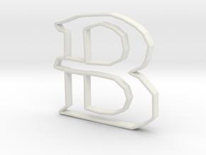 Typography Pendant B in White Natural Versatile Plastic