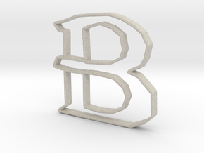Typography Pendant B in Natural Sandstone