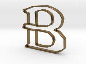 Typography Pendant B in Polished Bronze