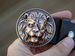 """The Colonel"" Belt Buckle in Raw Bronze"