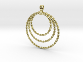 Three Rope Pendant/ Necklace in 18k Gold