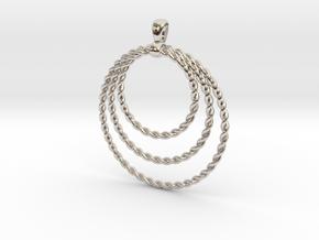 Three Rope Pendant/ Necklace in Platinum