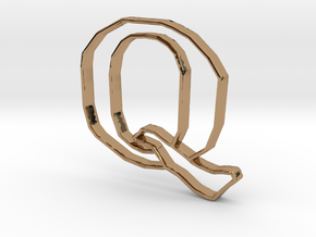 Typography Pendant Q in Polished Brass