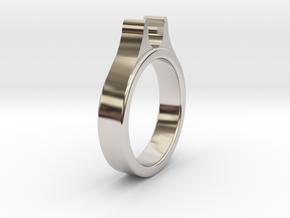 Ø20.20mm - Ø0.795inch Diamond Ring Cool Ø6.2mm Fit in Platinum