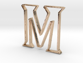 Typography Pendant M in 14k Rose Gold Plated Brass