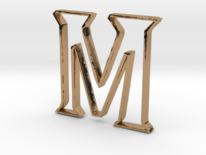 Typography Pendant M in Polished Brass