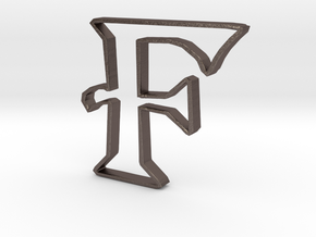 Typography Pendant F in Stainless Steel