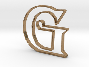 Typography Pendant G in Natural Brass