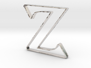 Typography Pendant Z in Platinum