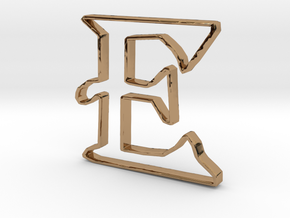 Typography Pendant E in Polished Brass