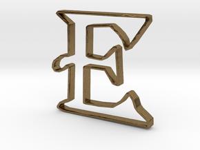 Typography Pendant E in Natural Bronze