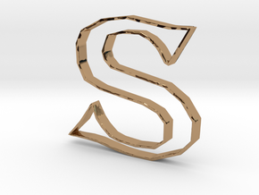 Typography Pendant S in Polished Brass