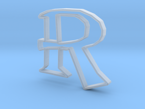 Typography Pendant R in Smooth Fine Detail Plastic