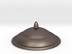 1/6 Scale Smith/Capaldi TARDIS Lamp Top Cap in Polished Bronzed Silver Steel