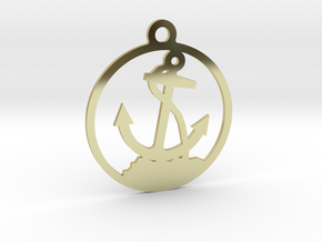 Anchor Pendent in 18k Gold Plated Brass
