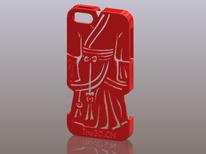 iPhone5_The Chinese Style -- Ancient costume 05 in Red Processed Versatile Plastic