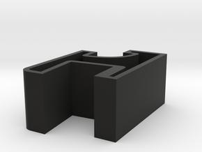 Dual Turntable Dustcover Hinge in Black Natural Versatile Plastic