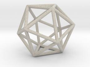 0026 Icosahedron E (5 cm) in Natural Sandstone