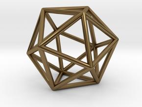 0026 Icosahedron E (5 cm) in Polished Bronze