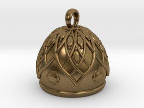 Flower Bell Pendant in Raw Bronze