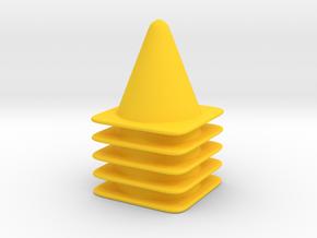 5 Cone Set in Yellow Processed Versatile Plastic