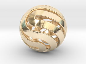 Ball-14-4 in 14K Yellow Gold