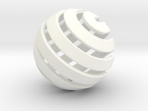 Ball-14-3 in White Processed Versatile Plastic