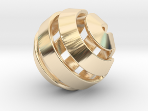 Ball-10-3 in 14K Yellow Gold