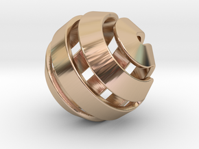 Ball-10-3 in 14k Rose Gold Plated Brass