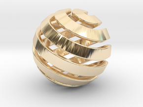 Ball-14-2 in 14K Yellow Gold