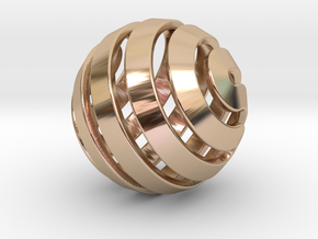 Ball-14-5 in 14k Rose Gold Plated Brass
