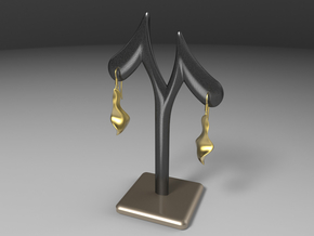 Qer earring in Matte Gold Steel