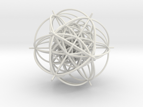 600-Cell, vertex centered, 1.5mm wires in White Natural Versatile Plastic