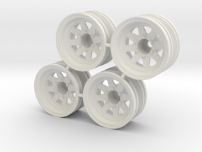 "Rim Wagon Wheel 1/4"" offset - Losi McRC/Trekker in White Strong & Flexible"