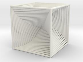 0299 Cube Line Design (full color, 5.5 cm) #003 in White Natural Versatile Plastic