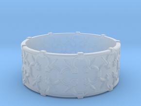 Gothic Lattice Ring in Smooth Fine Detail Plastic