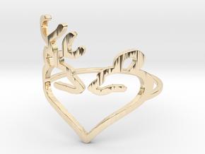 Size 6 Buck Heart in 14K Yellow Gold