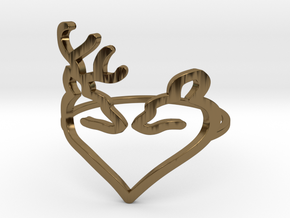 Size 10 Buck Heart in Polished Bronze