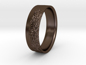 The Alps Ring in Polished Bronze Steel