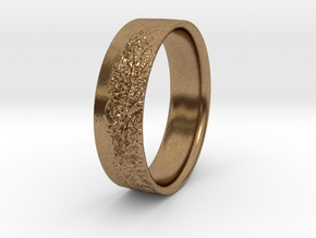 The Alps Ring in Natural Brass