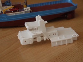 MV Anticosti, Superstructure (1:200, RC Ship) in White Processed Versatile Plastic